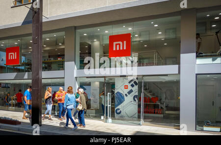 Andorra la Vella, Andorra. September 2018: Xiaomi Mi flagship store opened in august 2018 in this little European country - Stock Photo