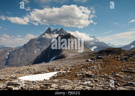 View towards Blanebba from Romsdalseggen - Stock Photo