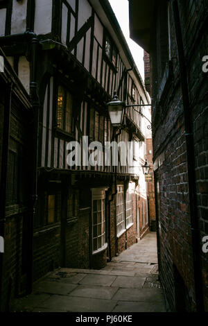 Lady Pecketts Yard, across from The Shambles, York, North Yorkshire, England, UK - Stock Photo