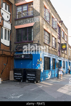 View of Curtain Road, Hoxton, London, England, UK - Stock Photo