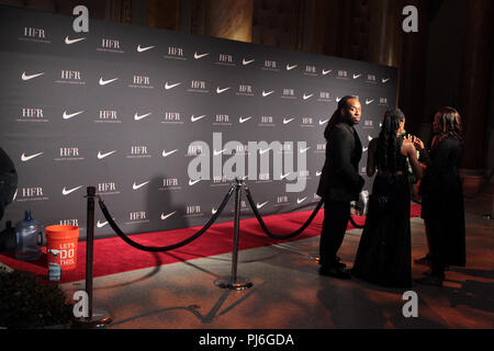 New York, New York, USA. 4th Sep, 2018. Atmosphere during the 2018 Harlem Fashion Row Style Awards & Fashion Show held at Capitale on Sepetmber 4, 2018 in New York City. Credit: Mpi43/Media Punch/Alamy Live News - Stock Photo