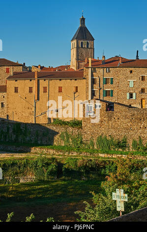 Saint Felicien in the Ardeche department, Rhone Alps region, France - Stock Photo