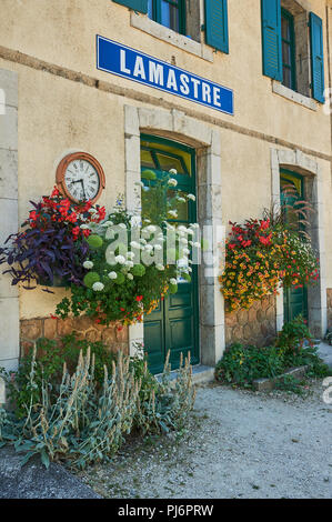 Lamastre railway station in the Ardeche department, Rhone Alps region, France - Stock Photo