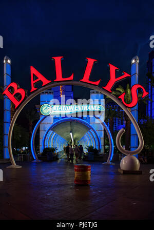 LAS VEGAS, NEVADA, USA - May 31, 2009: The entrance to Las Vegas monorail at Bally's Las Vegas in Las Vegas, Nevada. Bally's is located on the Strip a - Stock Photo
