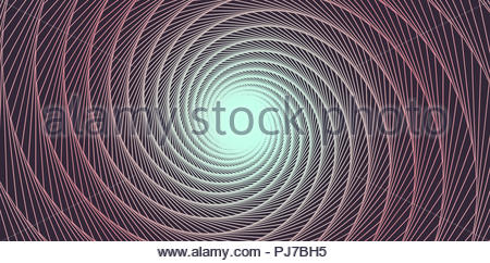 brown graphic vortex with shimmering open center - Stock Photo
