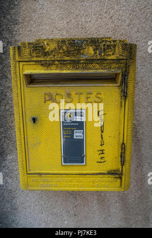 Old France mailbox. - Stock Photo