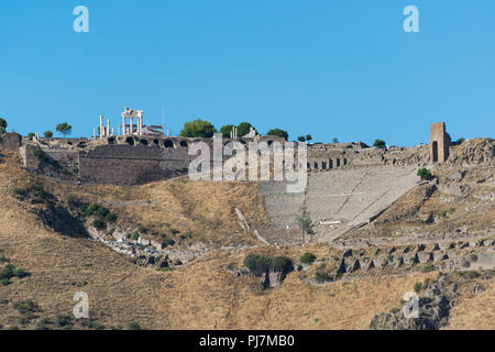 Hellenistic Theater in Pergamon. The steepest ancient theatre in the world - Stock Photo