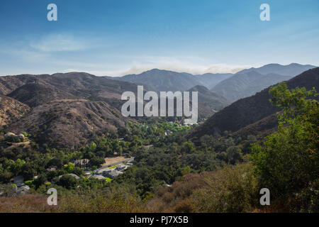 Modjeska Canyon with the Santa Ana Mountains and the Cleveland National forest countryside in the background in Orange County California - Stock Photo
