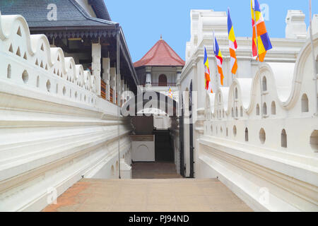 Temple of the tooth in Kandy, Sri Lanka - Stock Photo