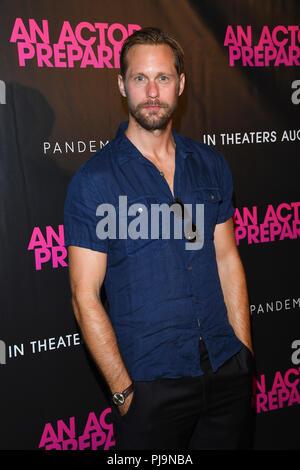 NEW YORK, NY - AUGUST 29: Alexander Skarsgard attends 'An Actor Prepares' New York Screeningat Metrograph on August 29, 2018 in New York City. - Stock Photo