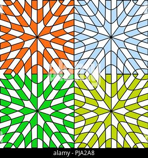 the four seasons; abstract patterns - Stock Photo