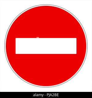 No entry or Do not enter! traffic sign - Stock Photo