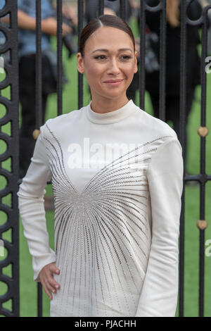 London, England. 5th September 2018, Dajana Roncione the World Premiere of The House with a Clock in Its Walls , England.© Jason Richardson / Alamy Live News - Stock Photo