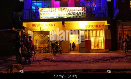 Nairobi, Kenya. 23rd Mar, 2018. A night club in Kibera called Havanah.Kibera is one of Africa's largest Slums located in East Africa, Kenya. Credit: Donwilson Odhiambo/SOPA Images/ZUMA Wire/Alamy Live News - Stock Photo