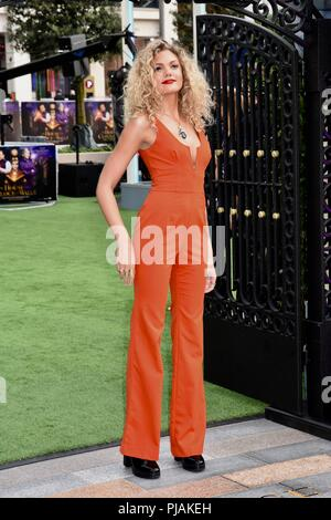 London, UK. 5th Sep 2018. Becca Dudley, A House With A Clock In Its Walls World Premiere, Westfield, White City, London.UK Credit: michael melia/Alamy Live News - Stock Photo