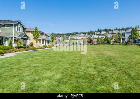 A housing development in the Issaquah Highlands, Washington, USA - Stock Photo