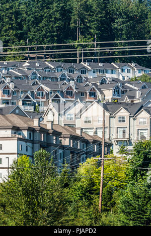 A housing development in Issaqua, Washington, USA. - Stock Photo