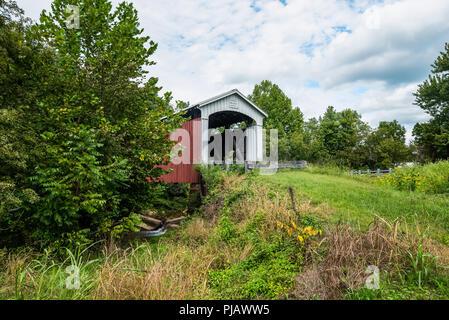 Harra Covered Bridge - Stock Photo