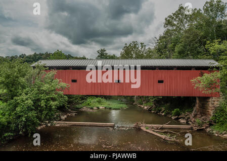 Harra Covered Bridge - Stock Photo