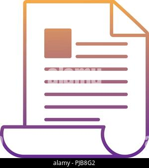 business document over white background, vector illustration - Stock Photo