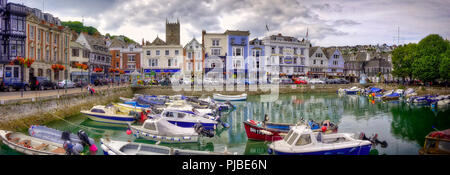 GB - DEVON: The Inner Harbour at Dartmouth (HDR-Image) - Stock Photo