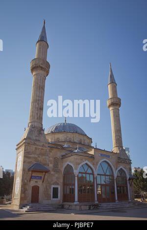 Baku, Azerbaijan : The Mosque of the Martyrs or Turkish Mosque is a mosque in Baku, Azerbaijan, near the Martyrs Lane Alley. - Stock Photo