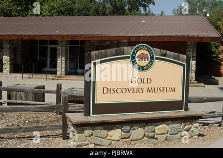 Coloma schoolhouse at the 1849 gold discovery musem, near Placerville, California. - Stock Photo