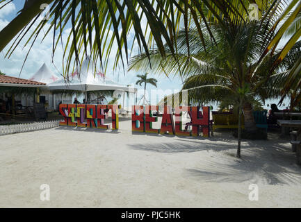 Ambergris Caye Secret Beach Belize - Stock Photo