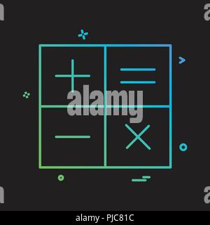 calculator math icon vector design - Stock Photo