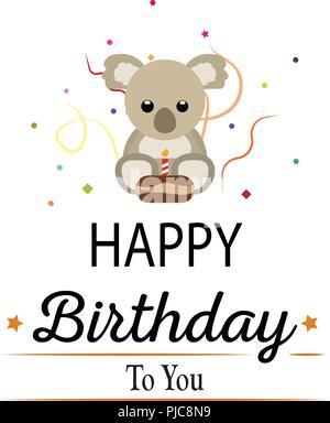 Happy birthday background - Stock Photo