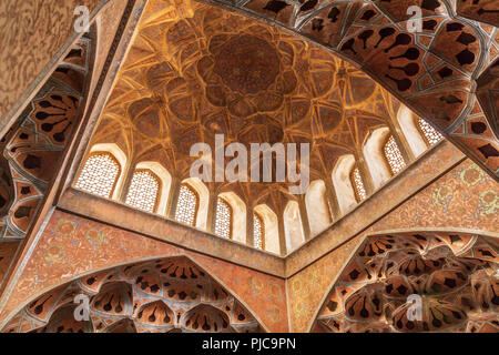 Islamic Republic of Iran. Isfahan. Ali Qapu grand palace, located on the western side of the Naqsh e Jahan Square. UNESCO World Heritage Site. 6th flo - Stock Photo