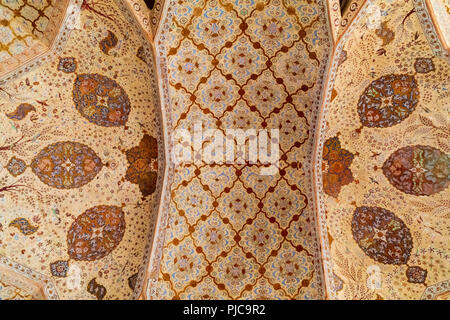 Islamic Republic of Iran.  Isfahan. Ali Qapu grand palace, located on the western side of the Naqsh e Jahan Square. UNESCO World Heritage Site. 6th fl - Stock Photo