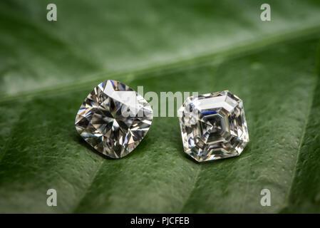 Diamond Cushion and Asscher Cut - Stock Photo