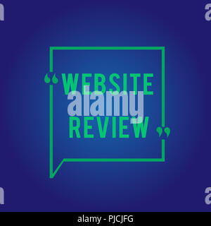 Word writing text Website Review. Business concept for Reviews that can be posted about businesses and services. - Stock Photo