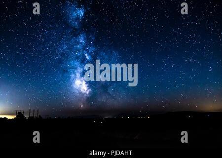 Milky Way at Cove Palisades, Oregon - Stock Photo