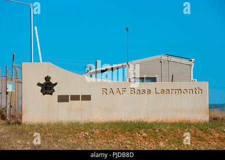 EXMOUTH, AUSTRALIA - August 20, 2018: RAAF Base Learmonth is a joint use Royal Australian Air Force base and civil airport - Stock Photo