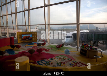 childrens area terminal 1 hong kong international airport chek lap kok hong kong china - Stock Photo