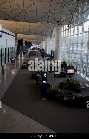 caring corner terminal 1 hong kong international airport chek lap kok hong kong china - Stock Photo