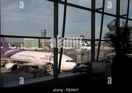 terminal 1 hong kong international airport chek lap kok hong kong china - Stock Photo