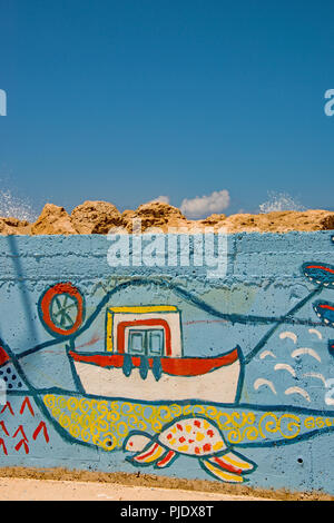 Naive wall painting / Grafitti. - Stock Photo
