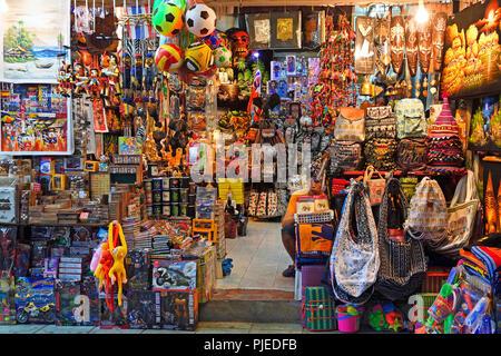typical souvenir state, Patong Beach, Thailand, Asia, typischer Souvenirstand, Asien - Stock Photo