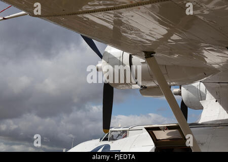 GOODWOOD, WEST SUSSEX/UK - SEPTEMBER 14 : Close-up of a Catalina Flying Boat at Goodwood on September 14, 2012 - Stock Photo