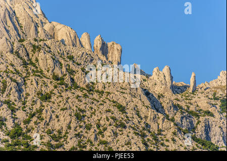 Velebit mountains, part of the Dinaric Alps located in Croatia - Stock Photo