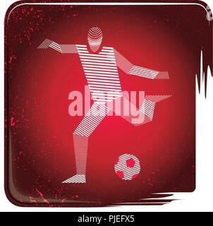 Soccer icon stripy - Stock Photo