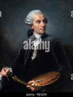 Portrait of the Painter Joseph Vernet (1714-1789) by Élisabeth Vigée Le Brun (1755-1842), oil on canvas, after 1778 - Stock Photo