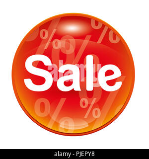 An image of a red sale icon - Stock Photo