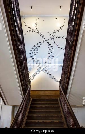 Interior staircase of A Vida Portuguesa, a beautiful store selling Portuguese products, Clérigos, Porto, Portugal. - Stock Photo