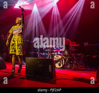 London, UK. 6th September, 2018. 06/9/2018 - Ecca Vandal Supports Incubus tour  at Brixton Academy London UK  -   Mandatory Credit Glamourstock Credit: glamourstock/Alamy Live News - Stock Photo