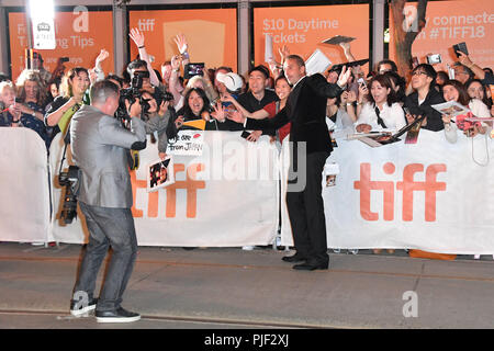 Toronto, Ontario, Canada. 6th Sep, 2018. MATTHIAS SCHOENAERTS attends the 'Kursk' premiere during 2018 Toronto International Film Festival at Princess of Wales Theatre on September 6, 2018 in Toronto, Canada Credit: Igor Vidyashev/ZUMA Wire/Alamy Live News - Stock Photo