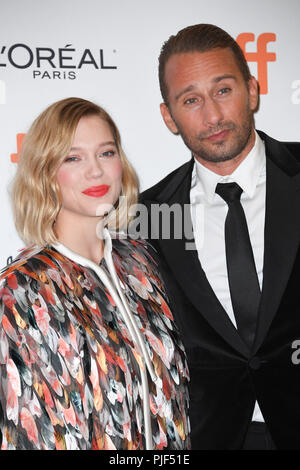 Toronto, Ontario, Canada. 6th Sep, 2018. LEA SEYDOUX and THOMAS VINTERBERG attend the 'Kursk' premiere during 2018 Toronto International Film Festival at Princess of Wales Theatre. Credit: Igor Vidyashev/ZUMA Wire/Alamy Live News - Stock Photo